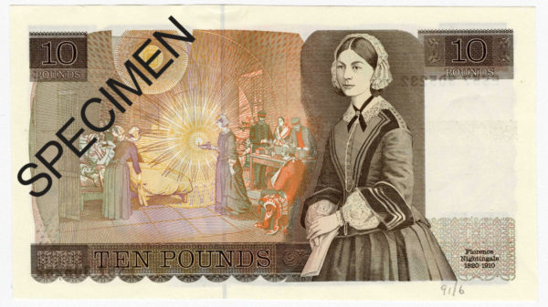 Florence Nightingale on bank note