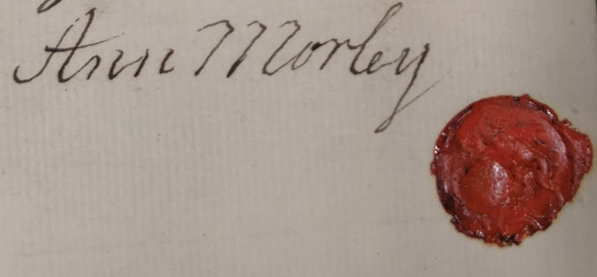 Signature on a letter