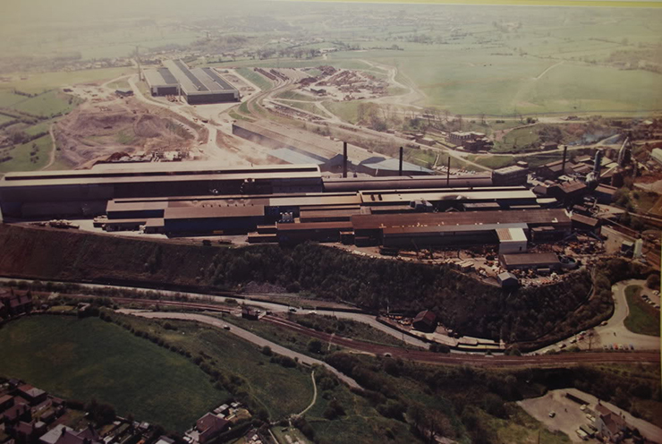 Brymbo steelworks in the 1980s