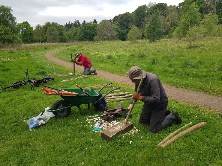 Forth Rivers Trust volunteers at work