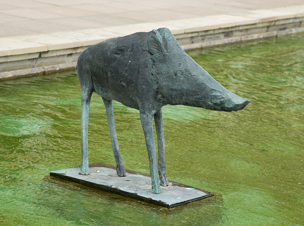 Boar sculpture