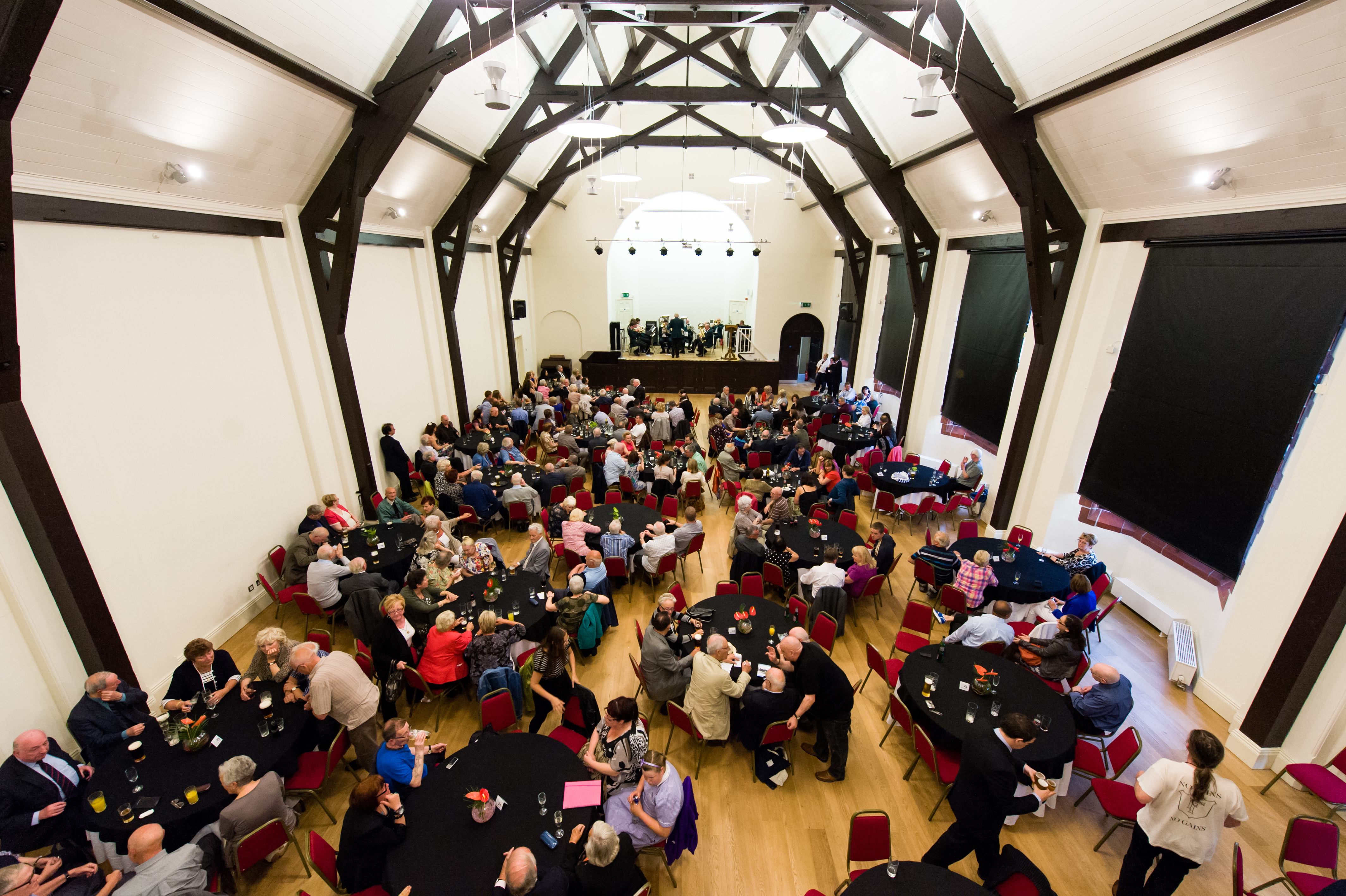 The Florrie's refurbished hall, filled with people attending an event