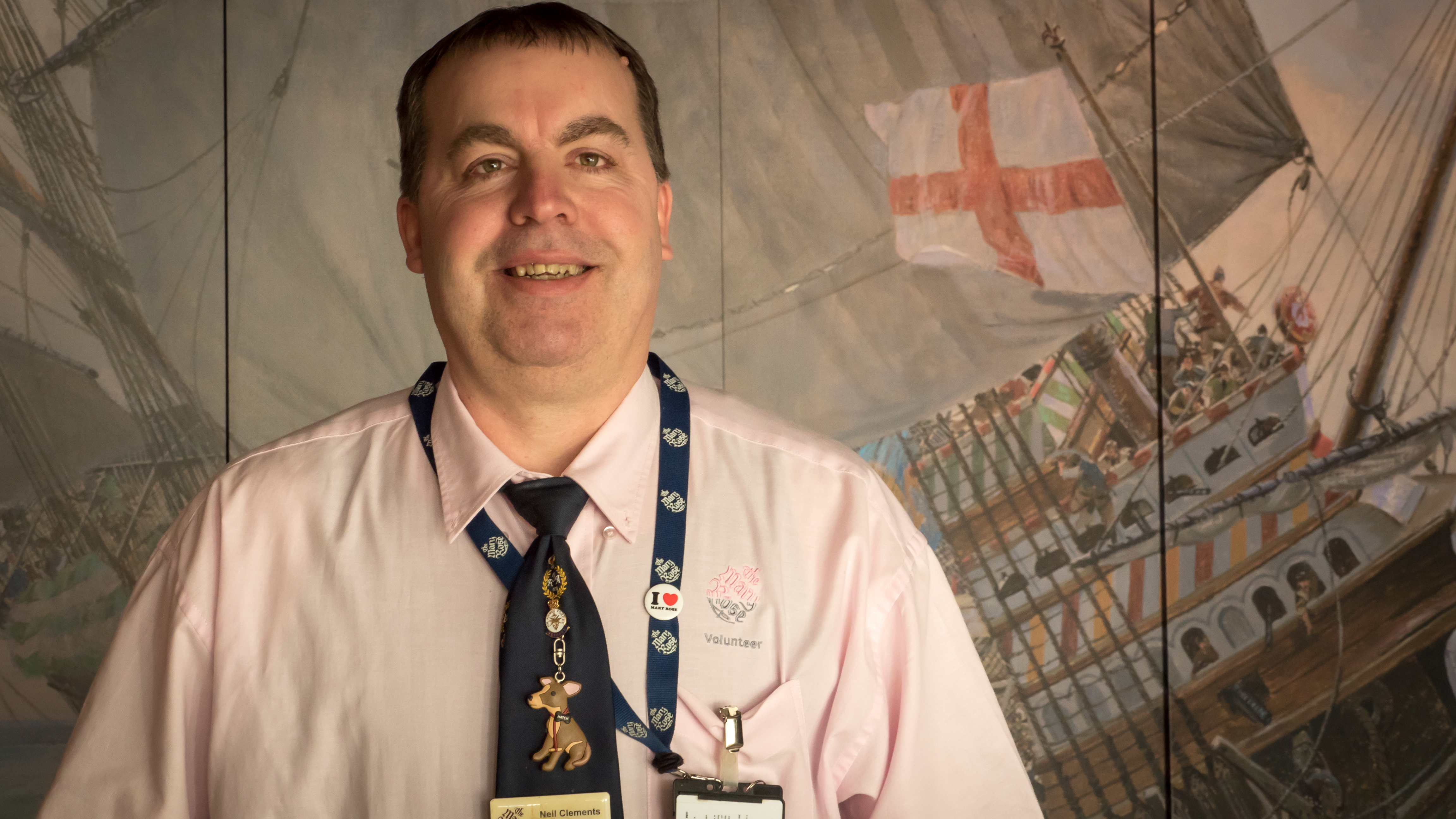 Neil Clements, Mary Rose Museum volunteer